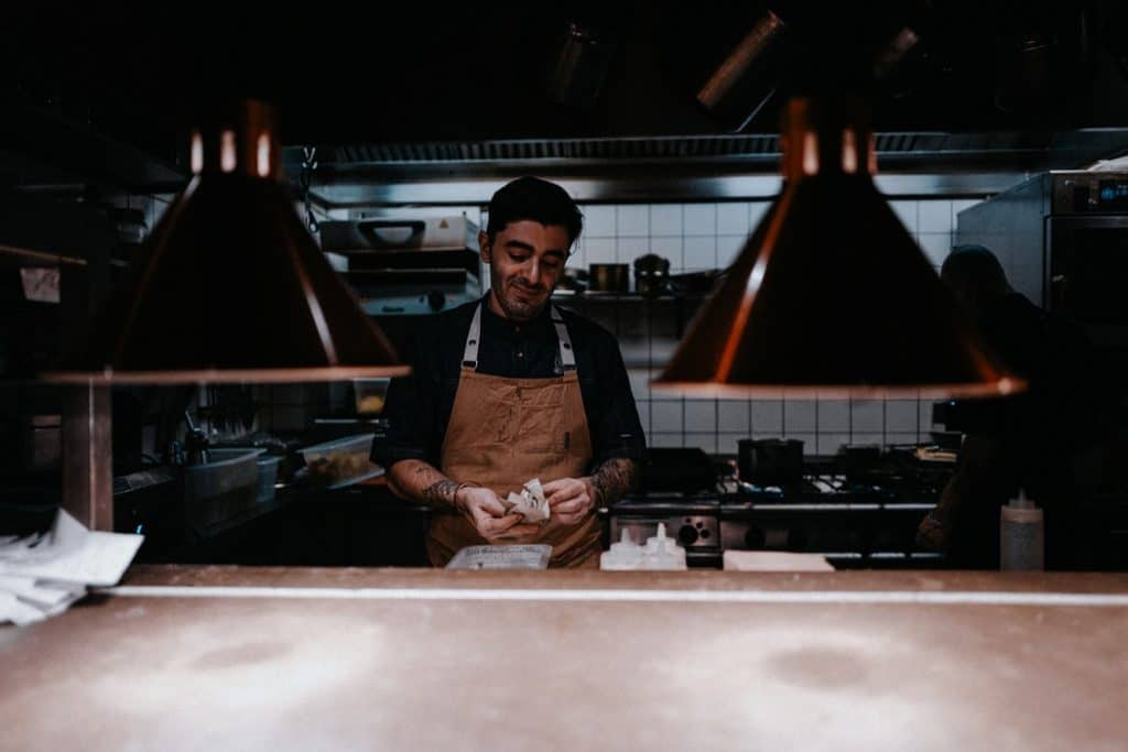 chef cooking in a restaurant